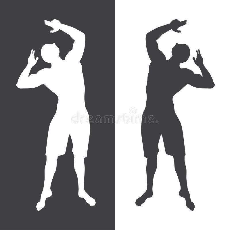 Bodybuilderschattenbild-Vektorillustration vektor abbildung