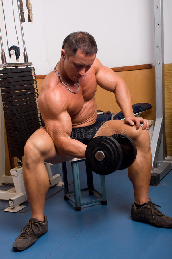 Bodybuildertraining stockbilder