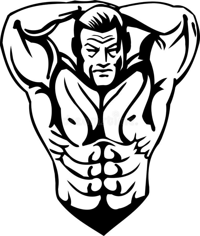 Bodybuilding και Powerlifting - διάνυσμα. απεικόνιση αποθεμάτων