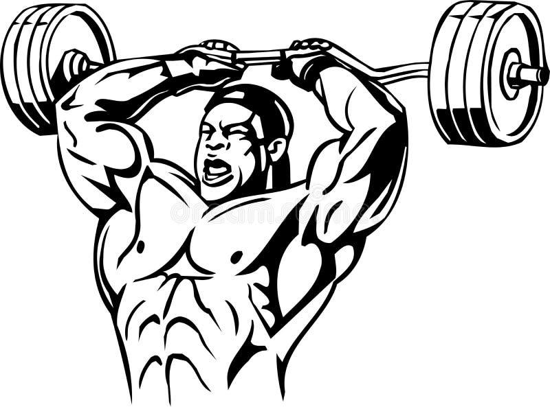 Bodybuilding και Powerlifting - διάνυσμα. διανυσματική απεικόνιση