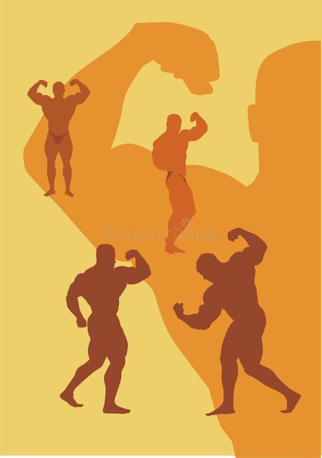 Bodybuilding lizenzfreie abbildung