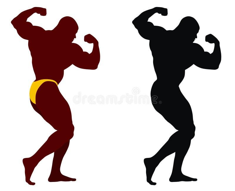 Bodybuilding royalty free illustration