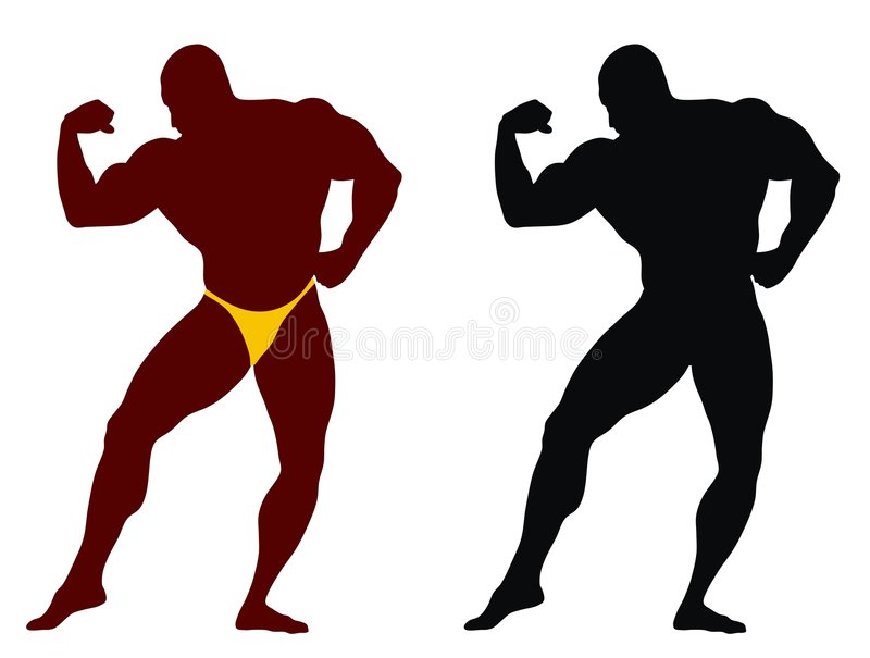 bodybuilding ilustracja wektor