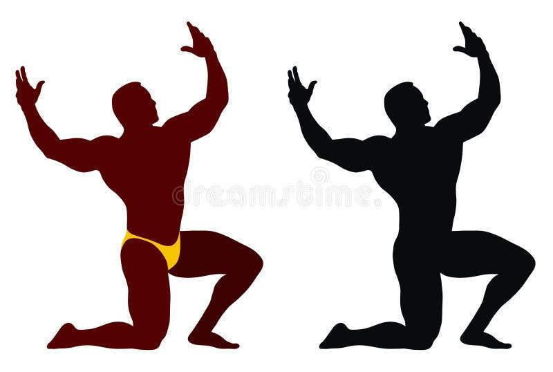 bodybuilding royalty ilustracja
