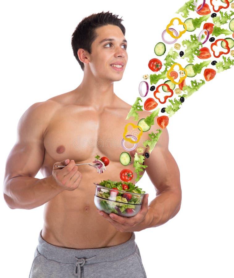 Bodybuilding bodybuilder healthy eating food flying salad body b stock photos