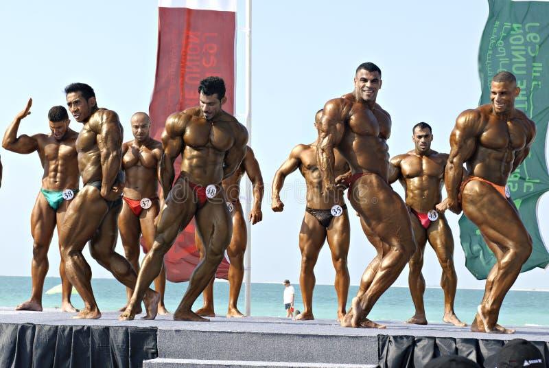 Bodybuilding Championship1 de DUBAI do MERGULHO do CÉU imagem de stock