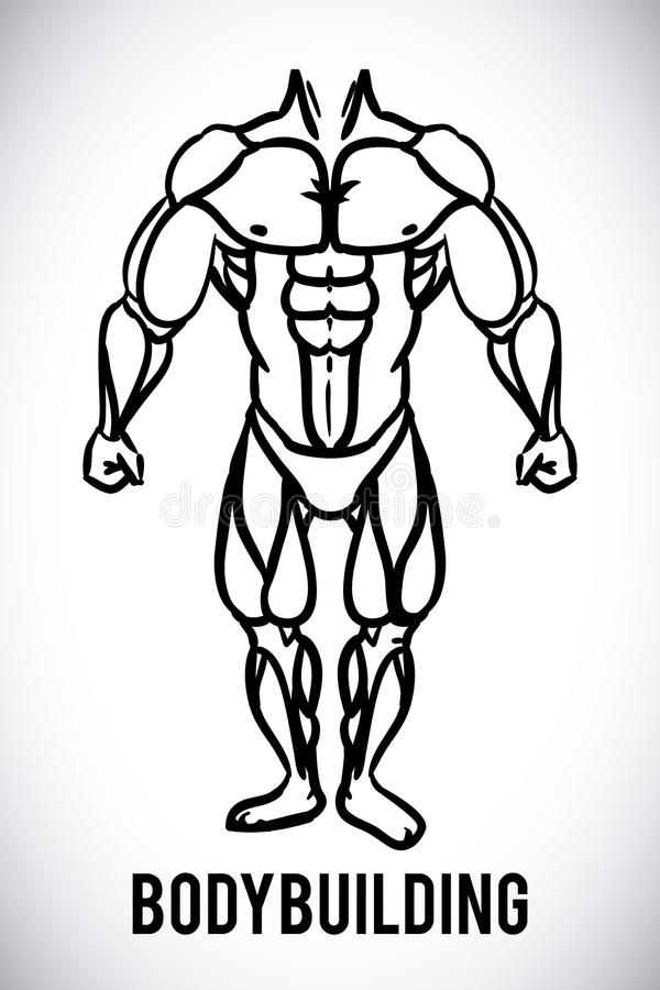 Bodybuilding design stock illustration