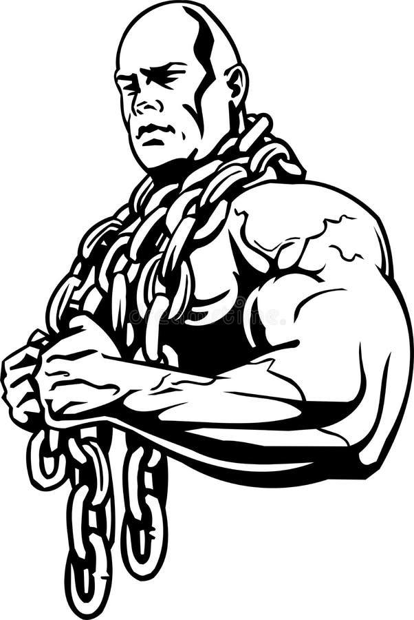 Bodybuilding en Powerlifting - vector. royalty-vrije illustratie