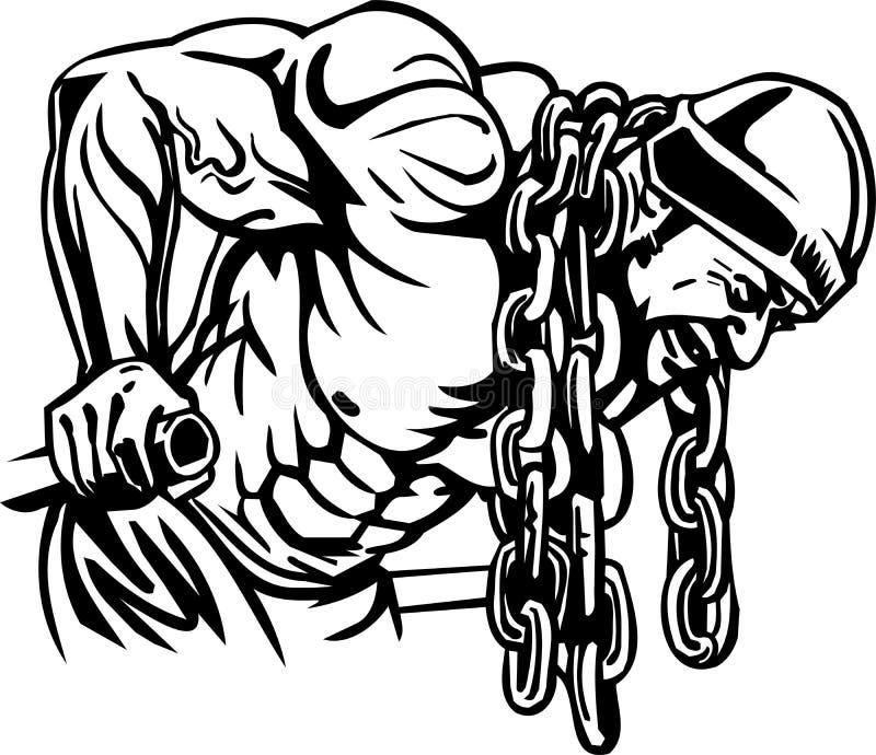 Bodybuilding en Powerlifting - vector. vector illustratie