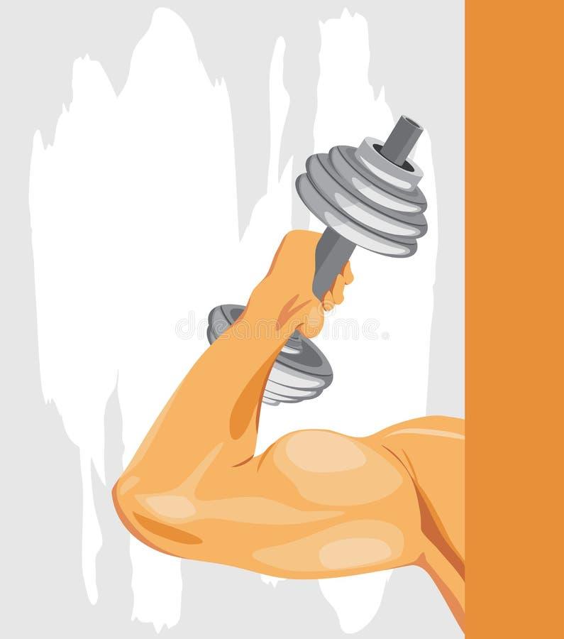 Bodybuilding. Fondo del deporte libre illustration