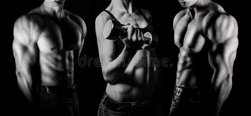 bodybuilding Hombre y mujer imagen de archivo