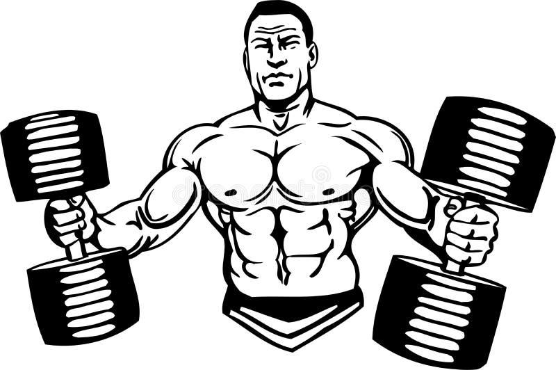 Bodybuilding i Powerlifting - wektor. ilustracji