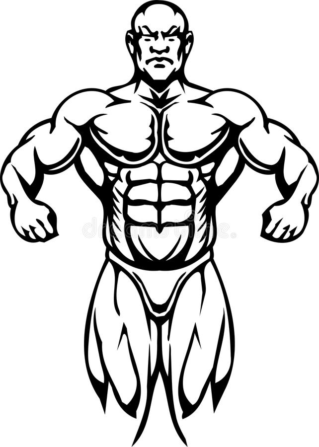 Bodybuilding i Powerlifting - wektor. royalty ilustracja