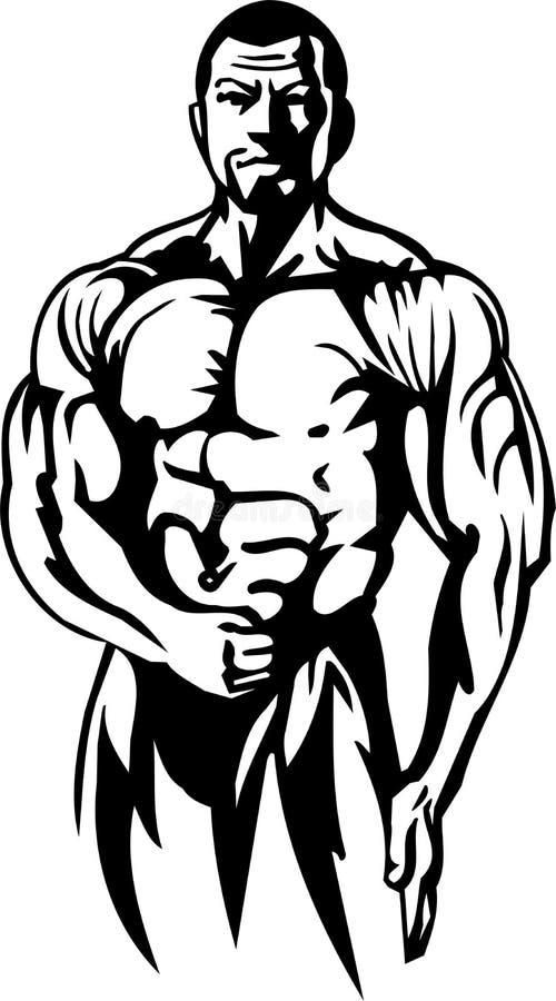 Bodybuilding i Powerlifting - wektor. royalty ilustracja