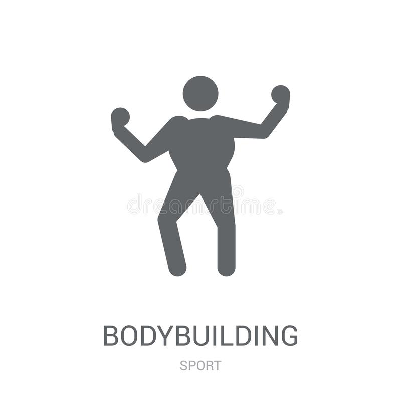bodybuilding icon. Trendy bodybuilding logo concept on white background from Sport collection vector illustration