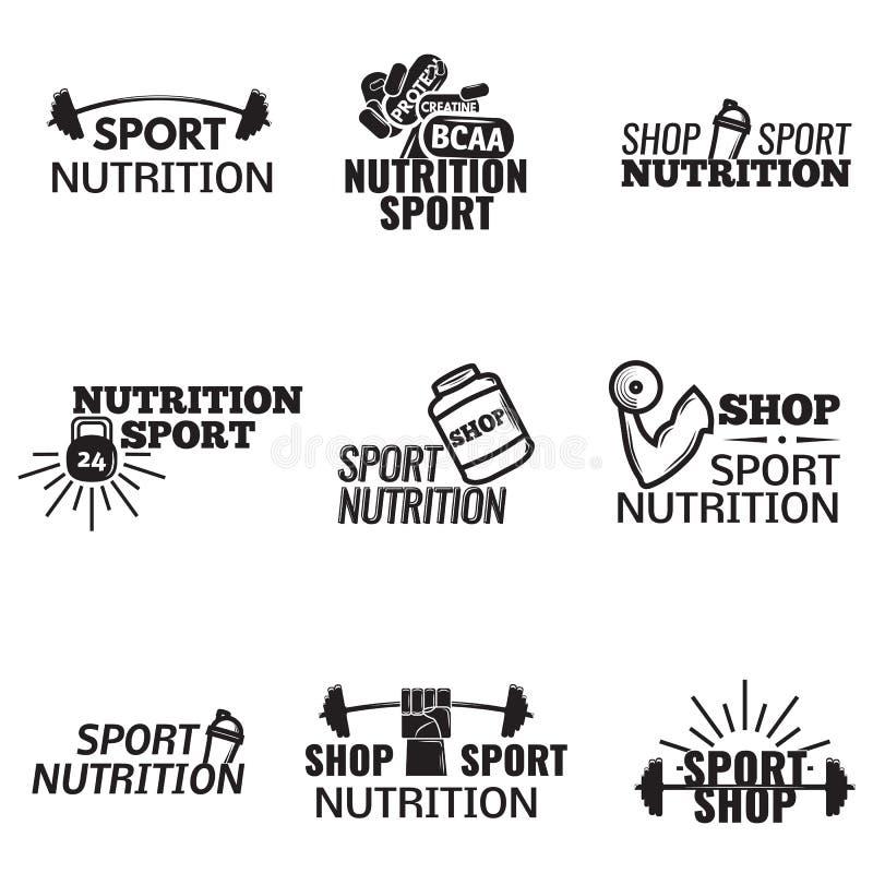 Bodybuilding-Ikonen eingestellt lizenzfreie abbildung
