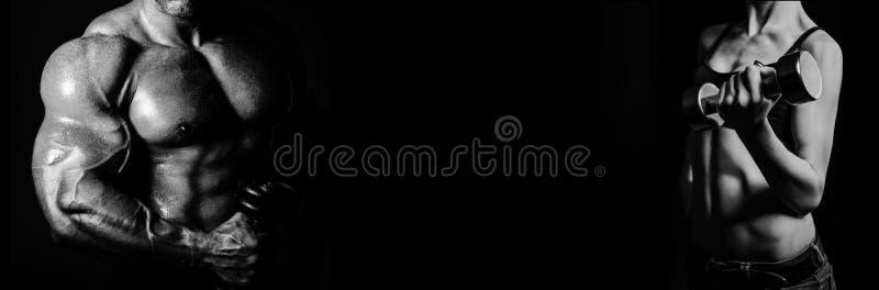 bodybuilding Mężczyzna i kobieta fotografia stock