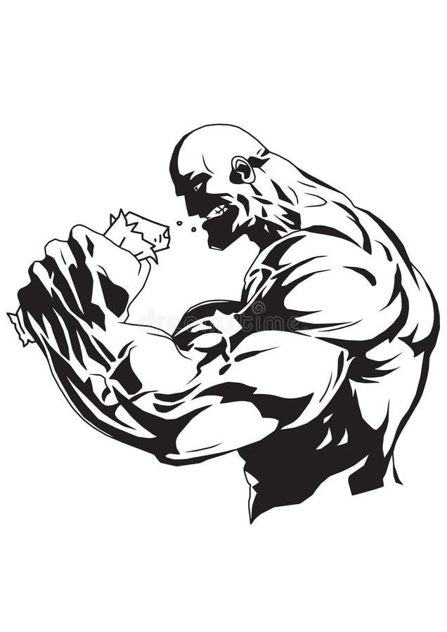 Bodybuilding nadprogram ilustracja wektor