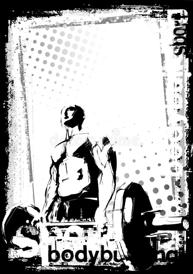 The Bodybuilding Poster vector illustration