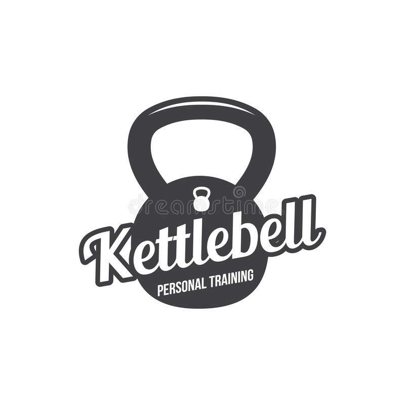 Bodybuilding, powerlifting, kettlebell, treningu logotypu znaka symbol Sprawność fizyczna loga emblemata projekta elementy kultur ilustracji