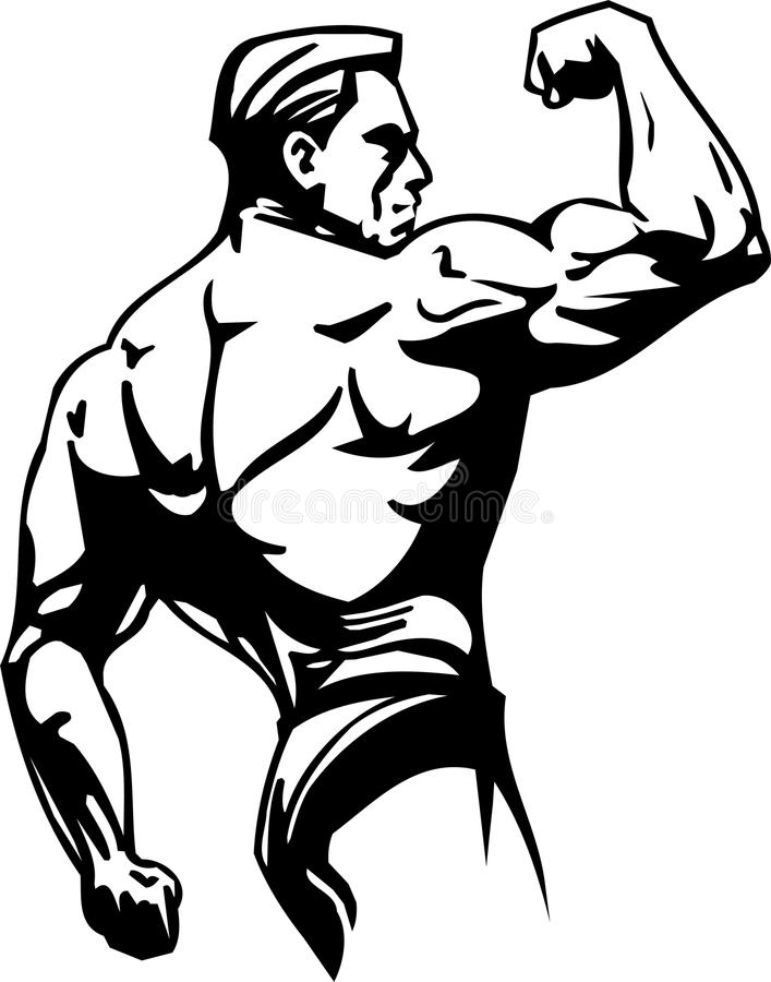Bodybuilding and Powerlifting - vector. stock illustration