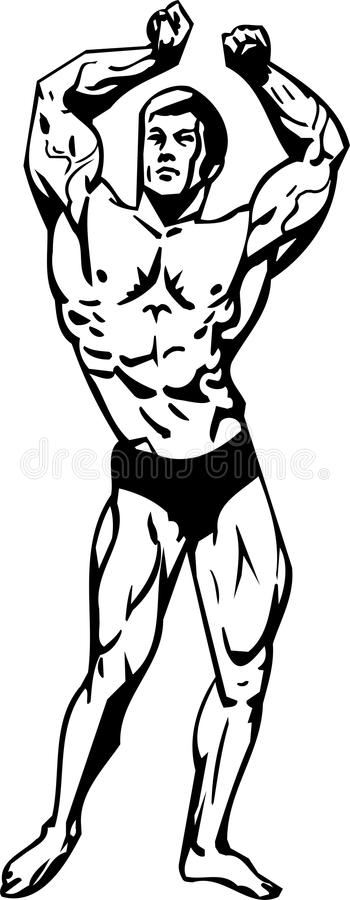 Bodybuilding and Powerlifting - vector. vector illustration
