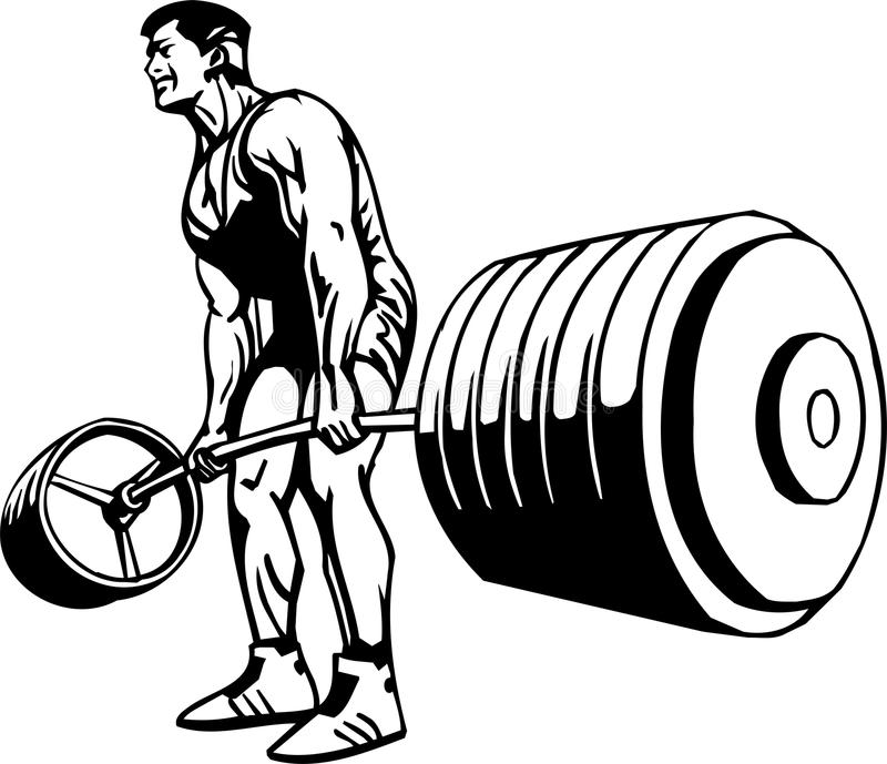 Bodybuilding and Powerlifting - vector. royalty free illustration