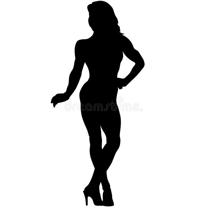 Bodybuilding pozy sylwetki ilustracja crafteroks ilustracja wektor