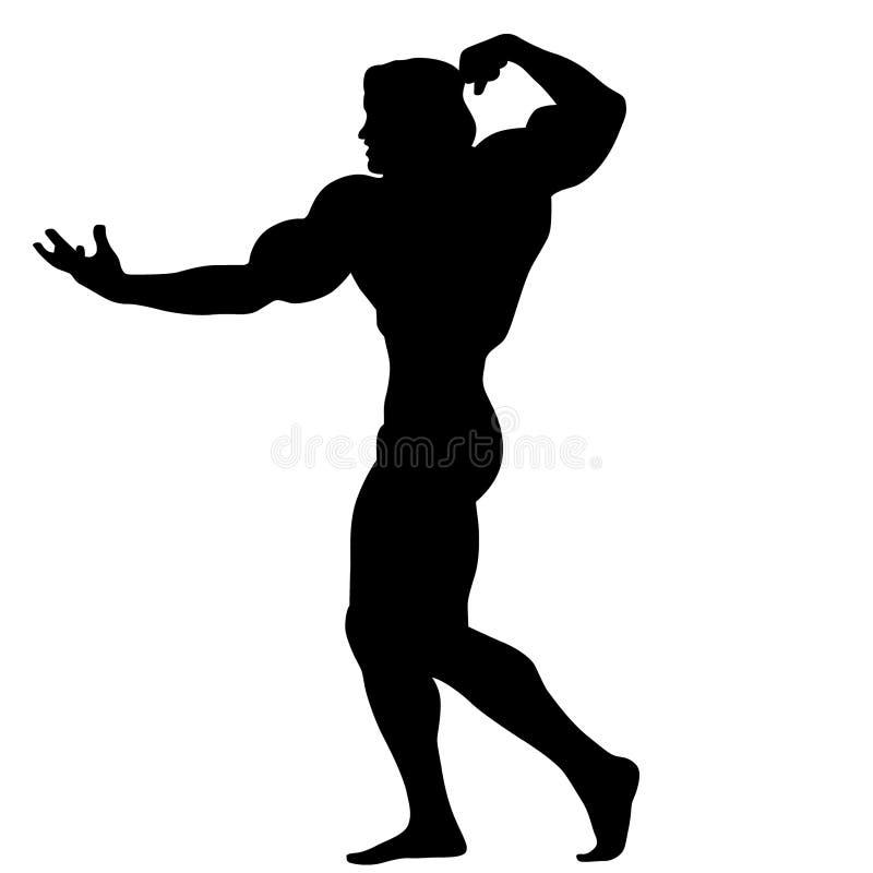 Bodybuilding pozy sylwetki ilustracja crafteroks ilustracji