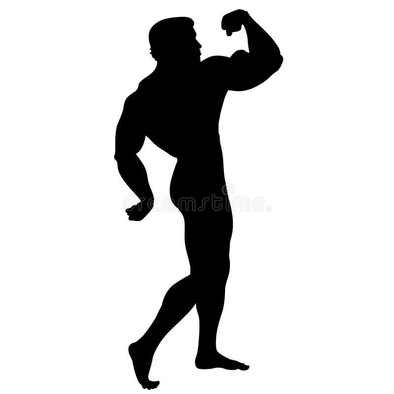 Bodybuilding pozy sylwetki ilustracja crafteroks royalty ilustracja