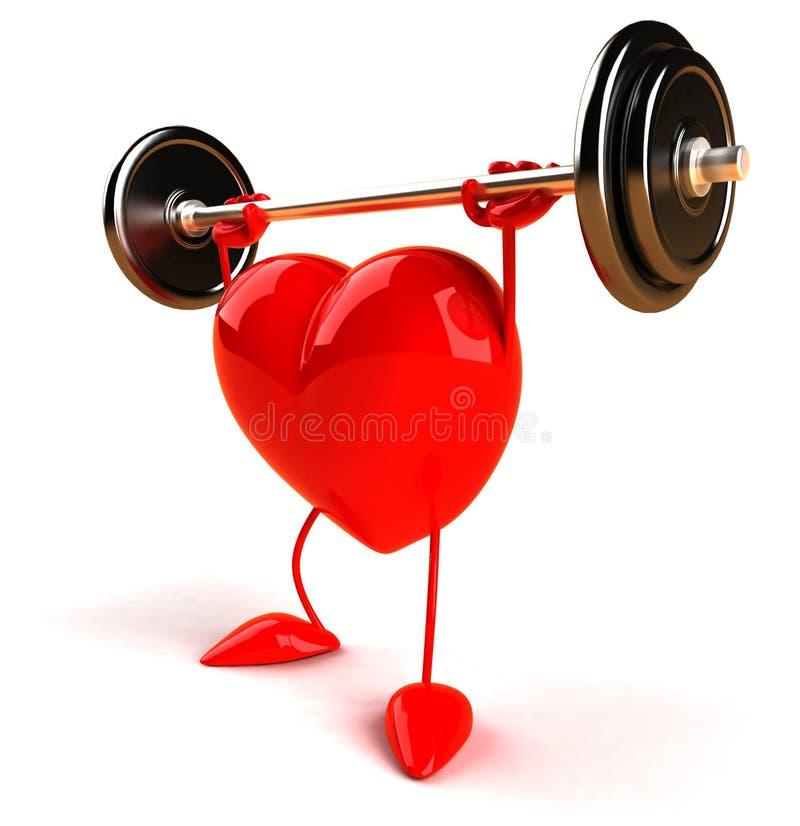 bodybuilding serce royalty ilustracja