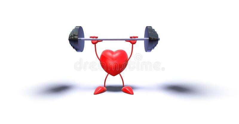 bodybuilding serce ilustracja wektor