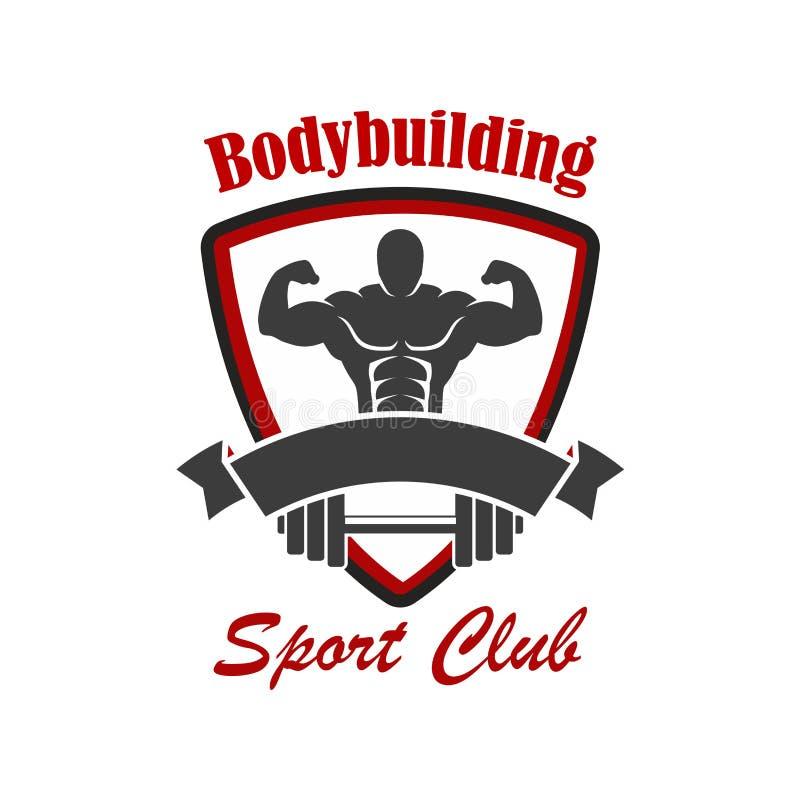 Bodybuilding sporta klubu wektoru emblemat ilustracji