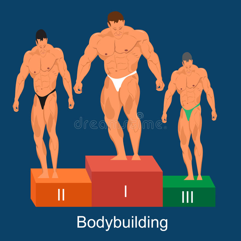 Bodybuilding turniejowy pojęcie, wektorowa ilustracja ilustracji