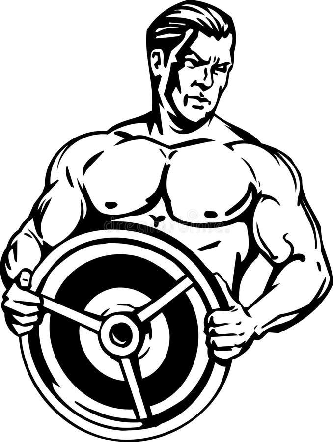 Bodybuilding und Powerlifting - Vektor. stock abbildung