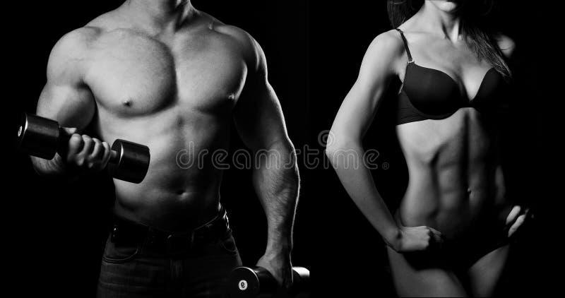 bodybuilding Uomo e donna fotografie stock