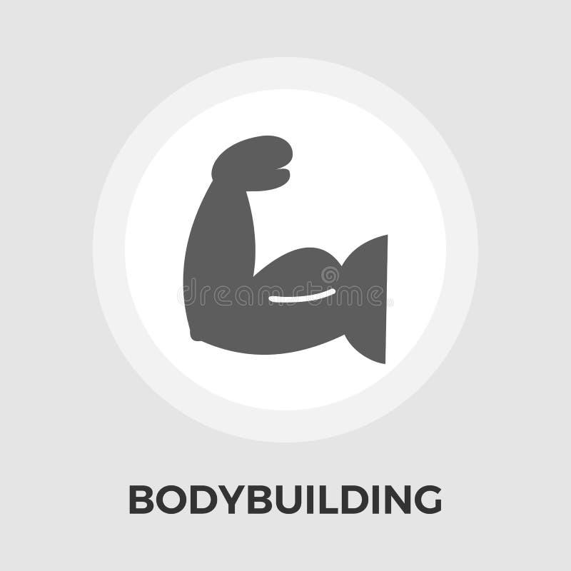 Bodybuilding-Vektor-flache Ikone vektor abbildung