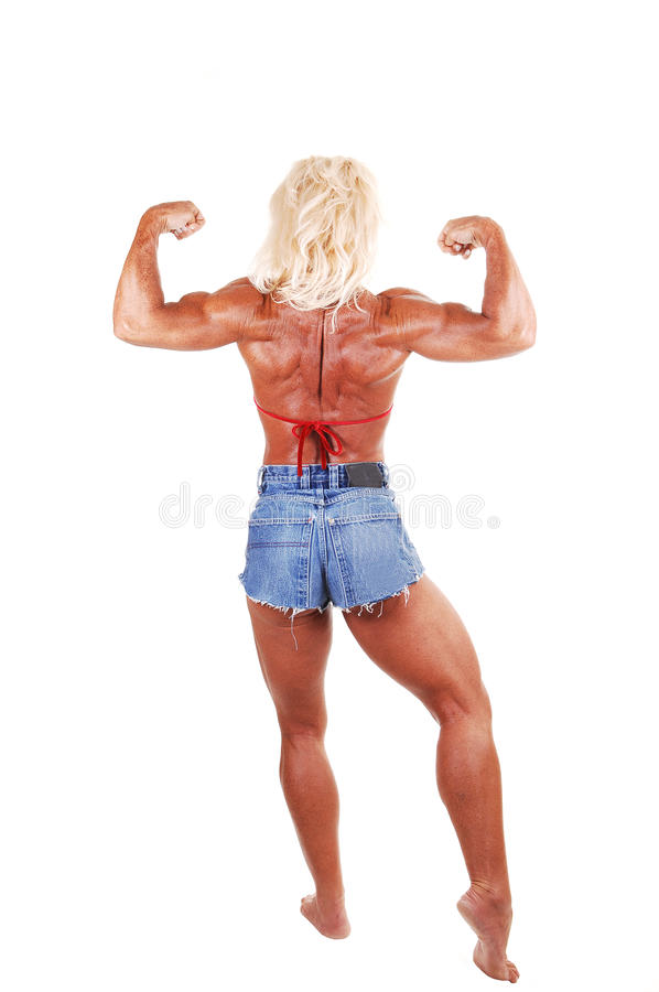 Download Bodybuilding woman. stock photo. Image of muscle, feet - 12215580