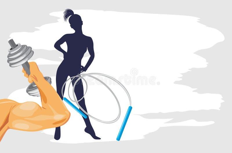 Bodybuilding y aptitud. Fondo del deporte ilustración del vector