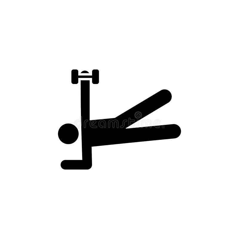 Bodybuilding, zdrowie, mężczyzna, ciężar ikona Element gym piktogram Premii ilo?ci graficznego projekta ikona podpisz symboli ilustracja wektor