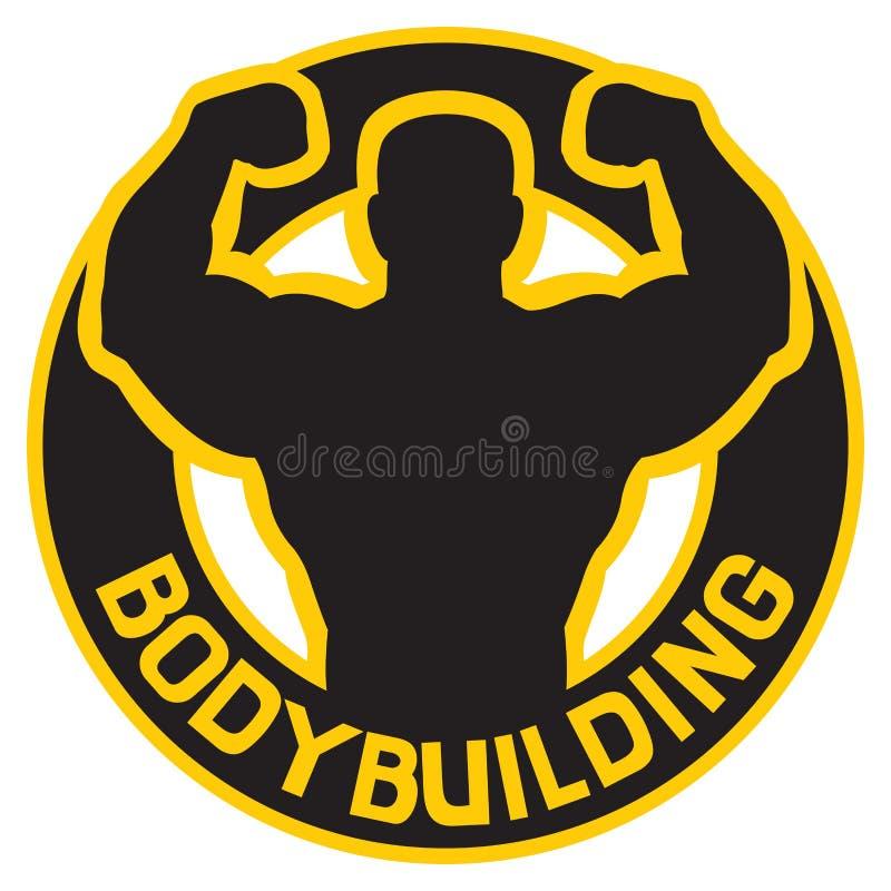 Bodybuildingabzeichen lizenzfreie abbildung