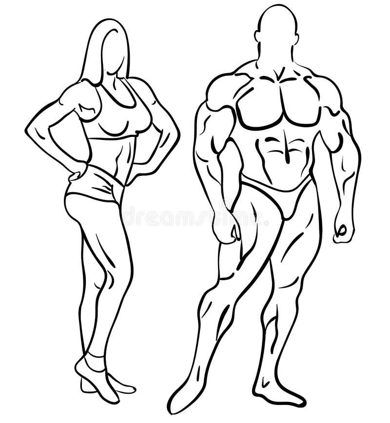 Bodybuildingeignung vektor abbildung