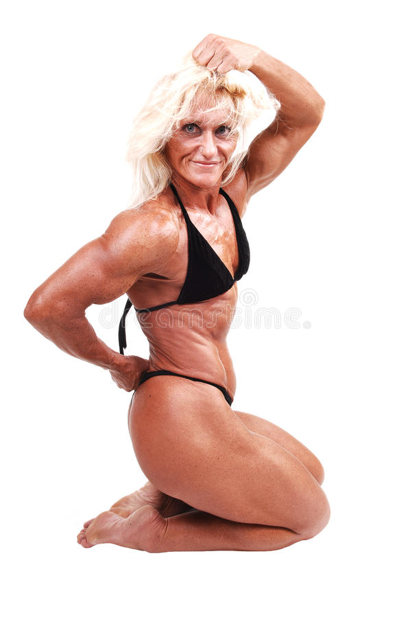 Bodybuildingfrau. lizenzfreies stockfoto