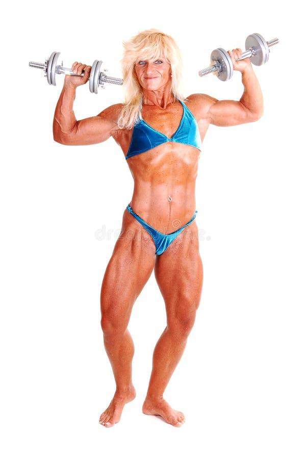 Bodybuildingfrau. stockfotos