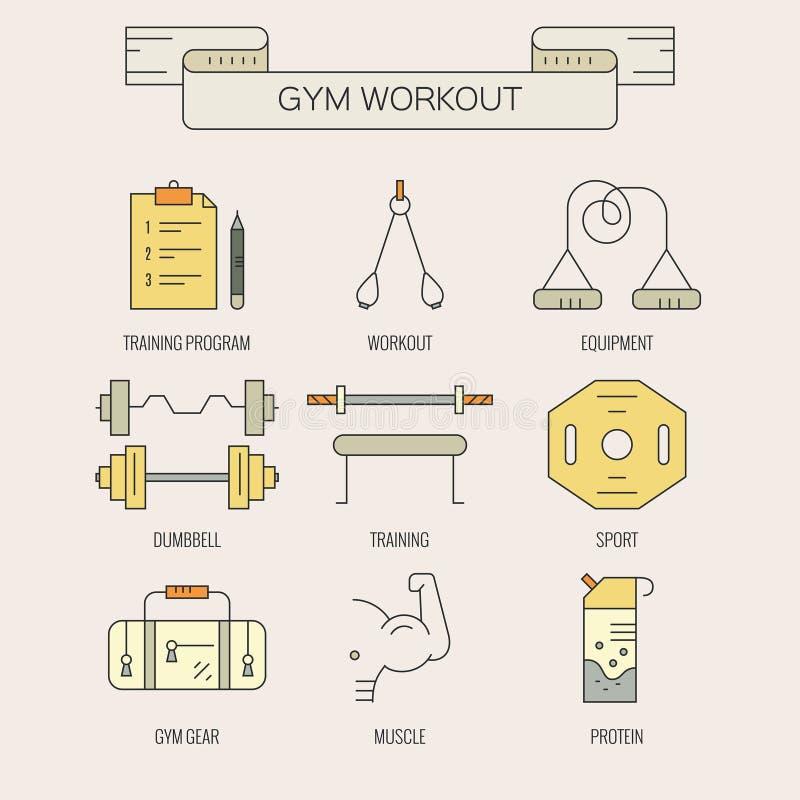 Bodybuildingikonen vektor abbildung