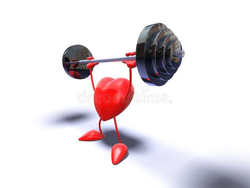 Bodybuildinginneres vektor abbildung