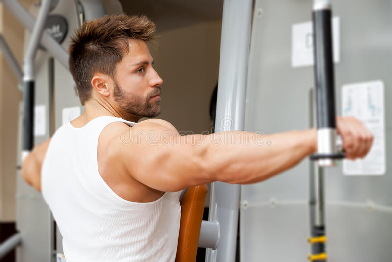 Bodybuildingsmens stock afbeelding
