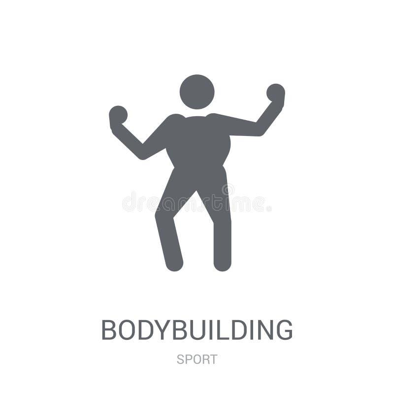 Bodybuildingspictogram  vector illustratie