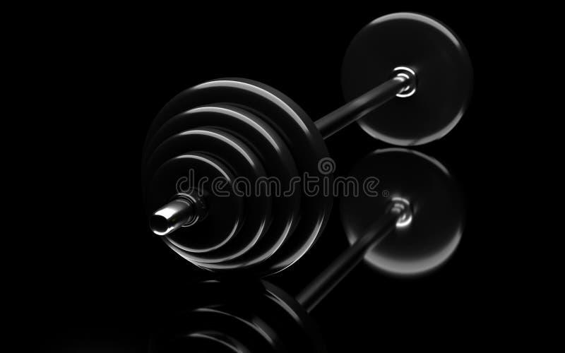 Bodybuildingsstaaf vector illustratie