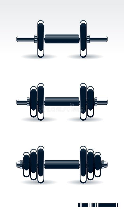 bodybuildingutrustning stock illustrationer